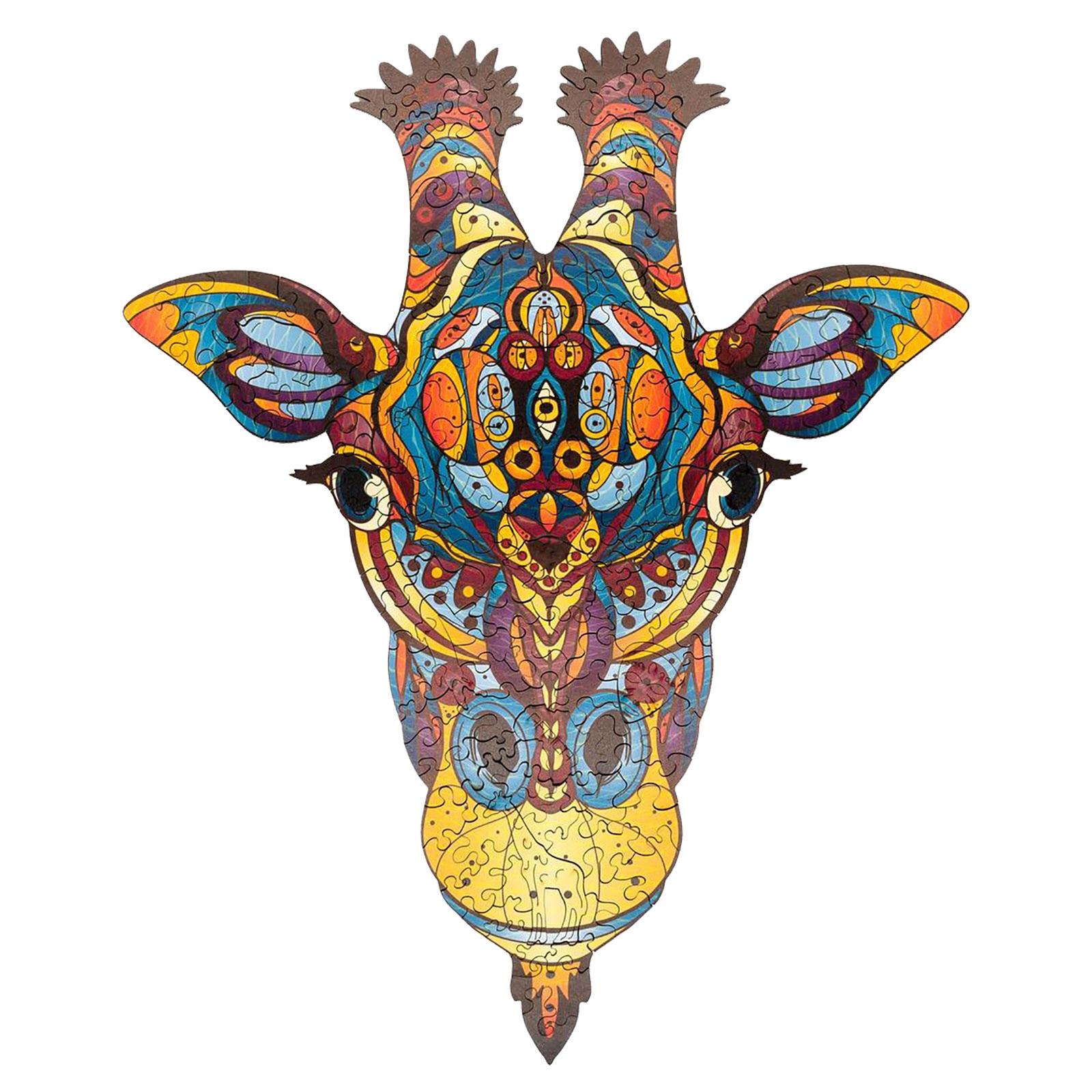 Новинка красочный жираф деревянный пазл развитие мышления Космос для взрослых образовательные сказочные Монтессори детские игрушки головоломки|Пазлы|   | АлиЭкспресс