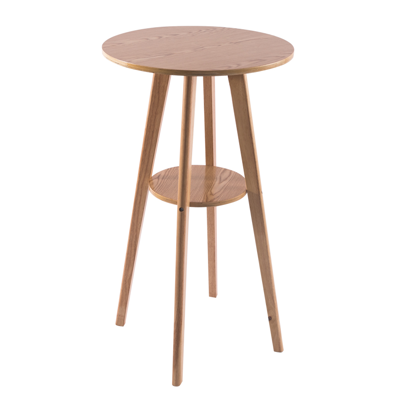 Nordic Bar Table And Chair Combination High  Solid Wood Round  Home Leisure   Simple Small