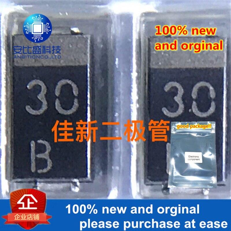 50pcs 100% New And Orginal HZF30BP-JTL DO214AC Silk-screen 30B In Stock