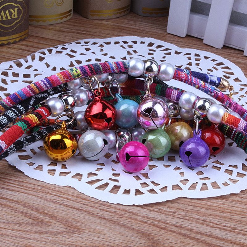 Cartoon Pet Bell Multi--Symphony Bell Handmade Necklace Dog Pet Cat Collar Collar 3
