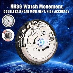 Automatyczny zegarek ruch męskie części mechaniczny zegarek ruch NH36 zegarek z czujnikiem ruchu wymień akcesoria|Części i akcesoria do zegarów|   -