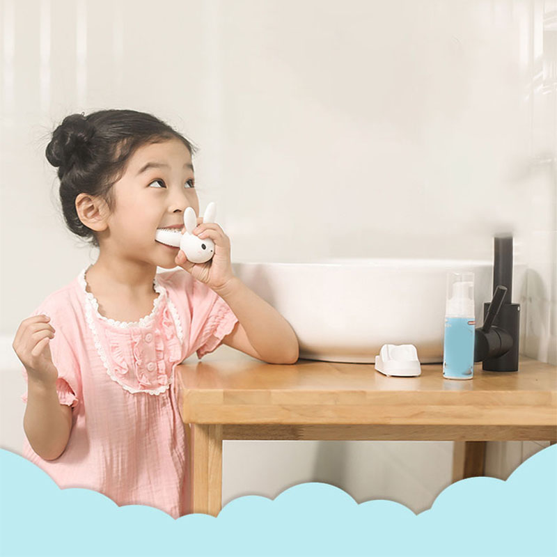 Children's U-Shaped Electric Toothbrush Child Automatic Mouth-Mounted Toothbrush USB Induction Charging Electric Toothbrush