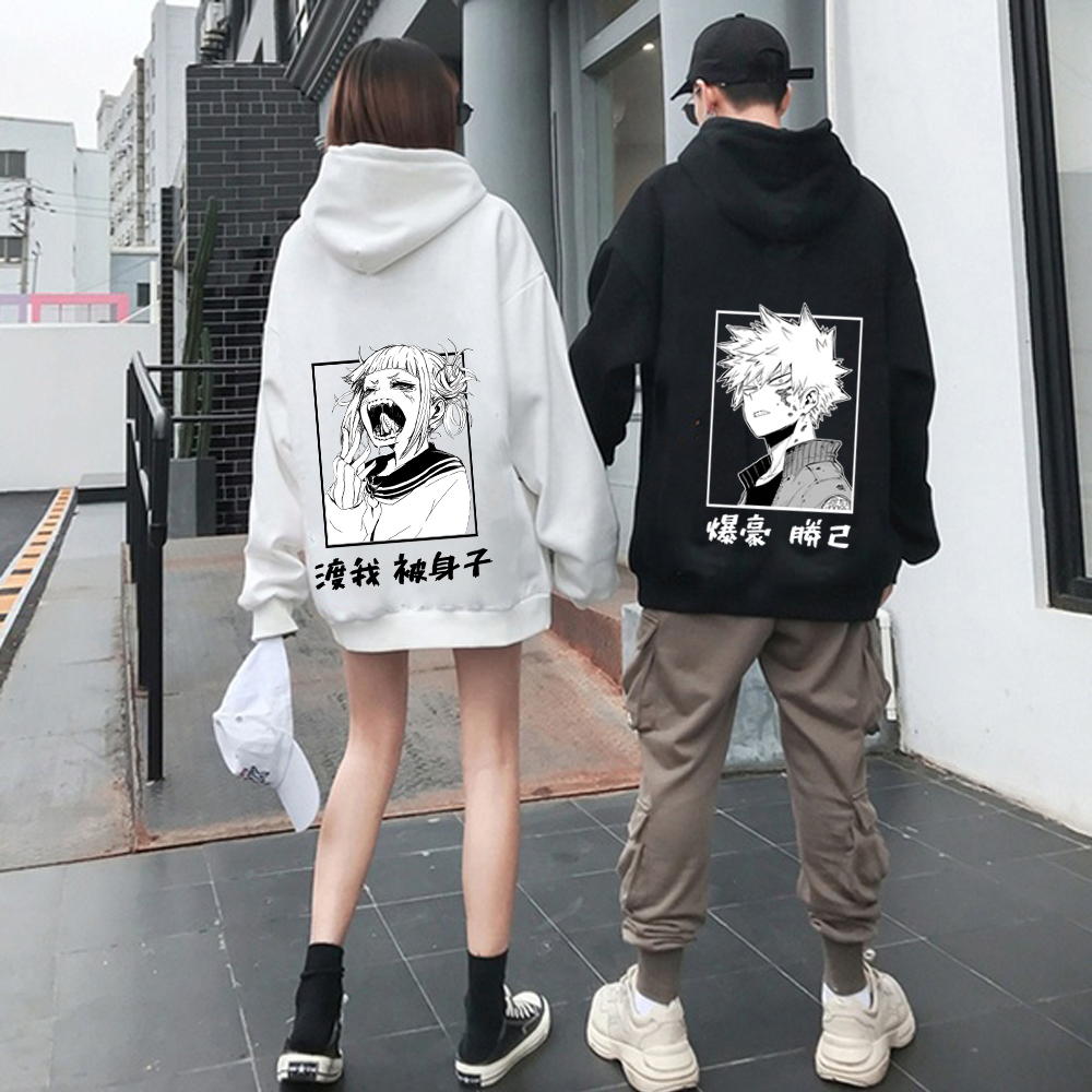 Harajuku my hero academia Unisex Hoodies Couple wear Japanese Anime Boku no Hero Academia Printed Men's Hoodie Streetwear