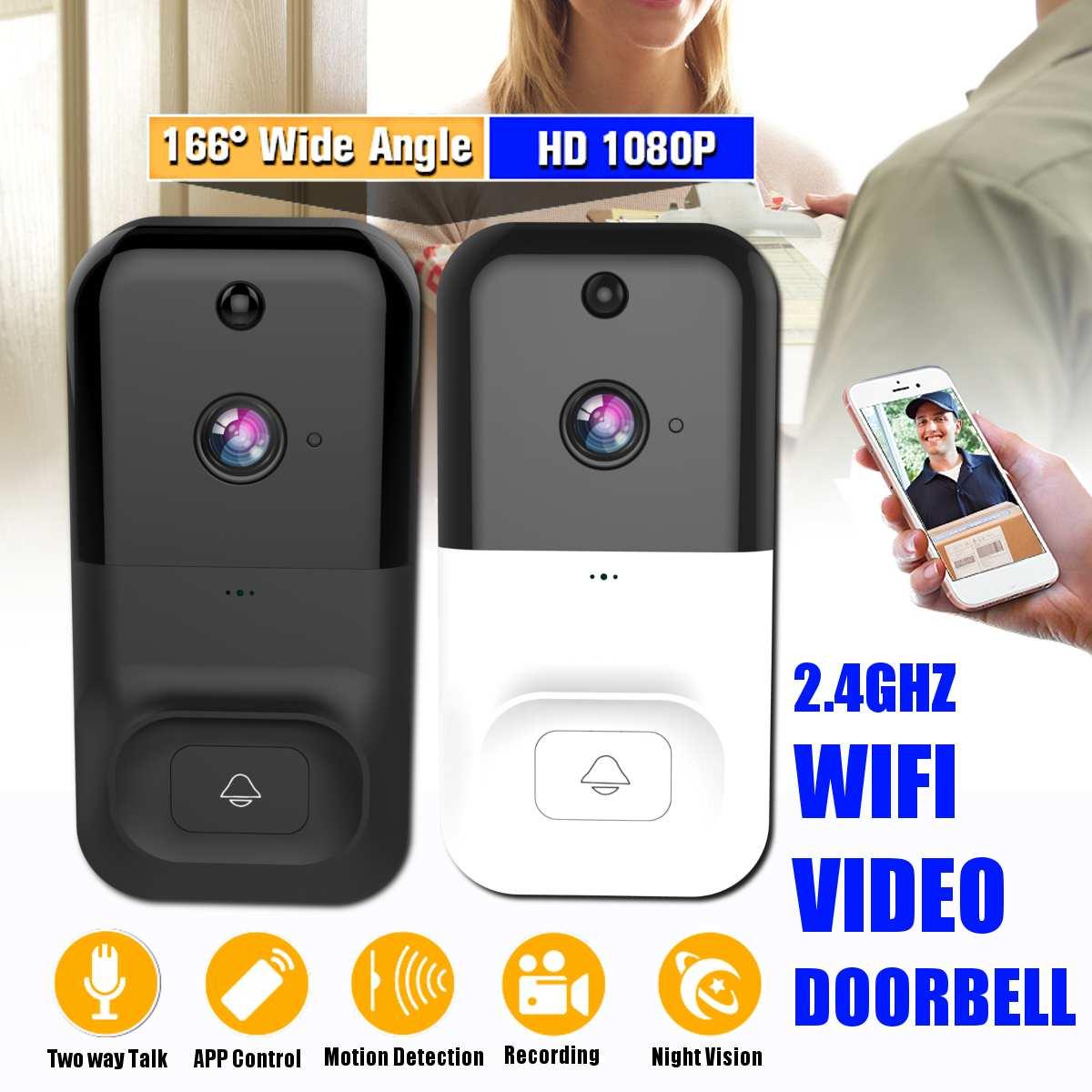 Wireless Wifi Doorbell Infrared Smart Video Chime Intercom HD 1080P Home IP Door Bell Camera Security Alarm IR Night Vision