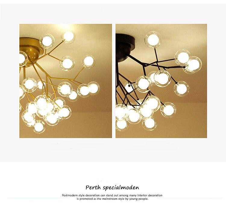 Moderno led lustres de teto iluminação árvore