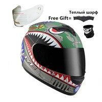Full-Face Motorcycle Helmet (Solid Matte Black  Large) with Removable Winter Neck Scarf + 2 Visors DOT (M  Matte Black)