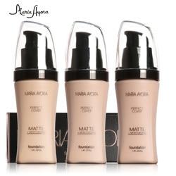MARIA AYORA 6 Colors liquid foundation makeup foundation Long lasting make up foundation waterproof face base foundation TSLM1