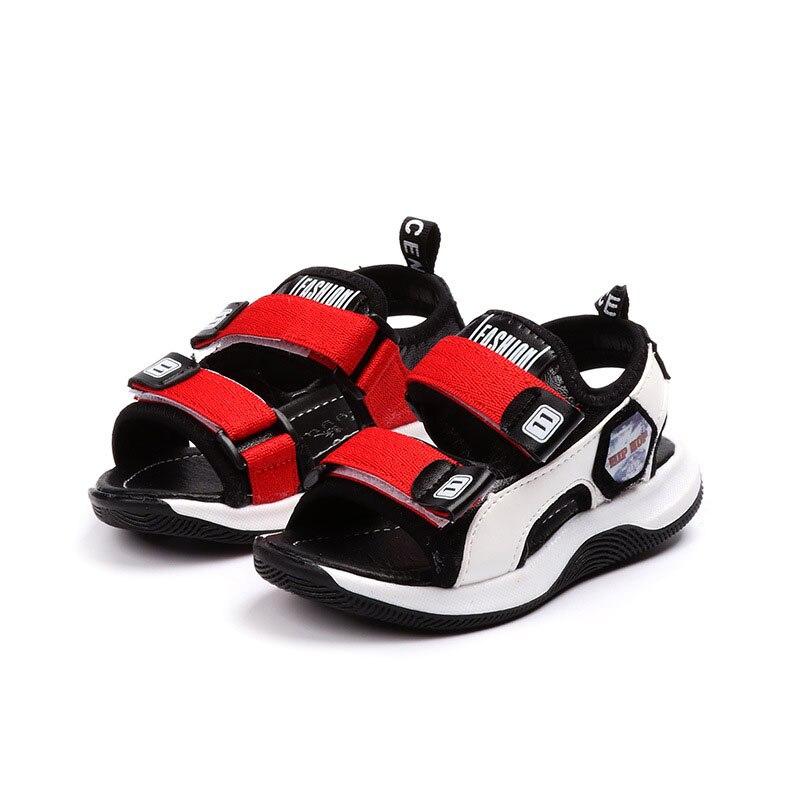Сандалии кожаные для мальчиков 1 6 лет, мягкие Нескользящие, плоская подошва, пляжная обувь, повседневные, для спорта, лето 2020
