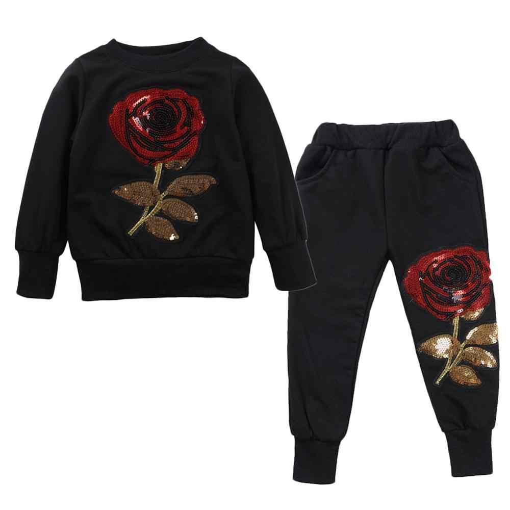 Outono inverno da criança da menina conjuntos de roupas treino para meninas ternos do esporte crianças roupas roupas 3 4 3 5 6 7 anos