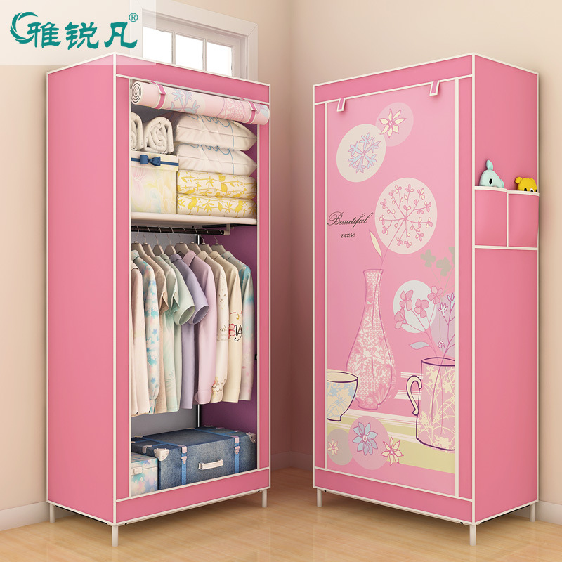 Small Wardrobe Simplicity Cloth Wardrobe Students Wardrobe Rugged Thick Korean Style Wardrobe Single Person Special Offer
