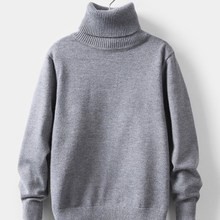 Knitted Sweater Clothing Turtleneck Girls Kids Children's Solid Soft for 2-To10-Years-Old