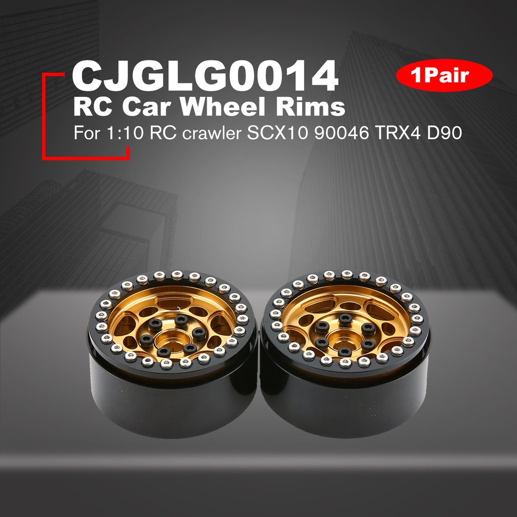 2019 1Pair 2Pairs Alloy 1 9 CNC Beadlock Wheels Rims CJGLG0014 for 1 10 RC Crawler Axial SCX10 SCX10 II 90046 Traxxas TRX4 D90 in Model Accessories from Toys Hobbies