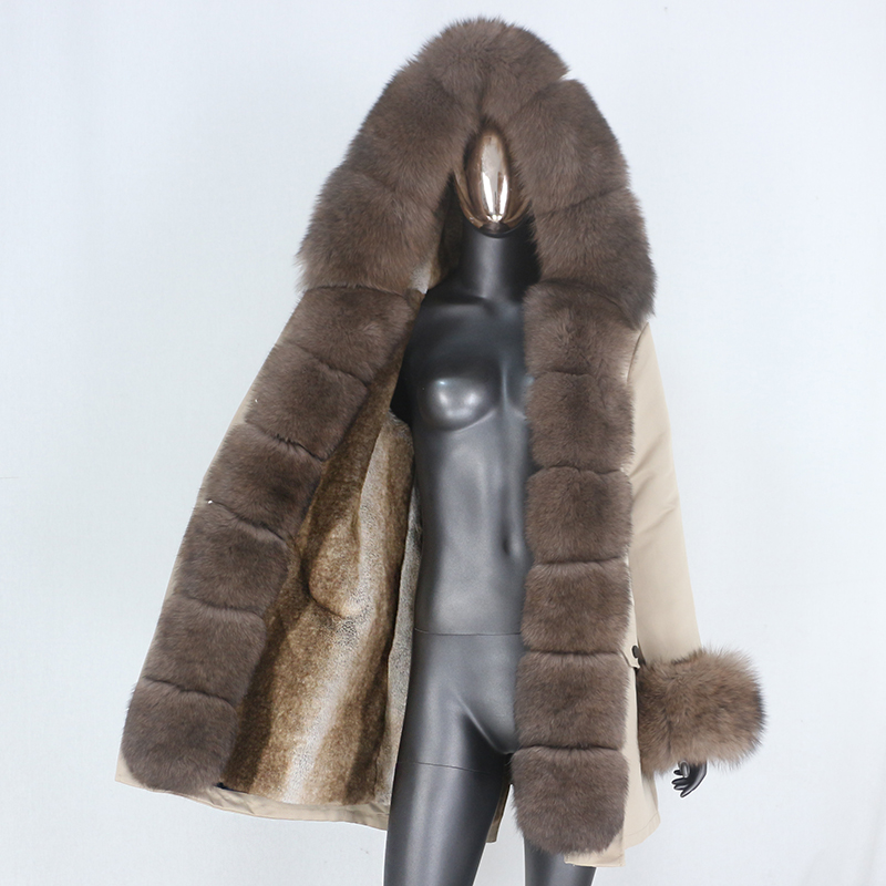 H07bc9c71e43346c8a6c4e4a0300ab248G CXFS 2021 New Long Waterproof Parka Winter Jacket Women Real Fur Coat Natural Raccoon Fur Hood Thick Warm Streetwear Removable