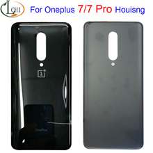 NEW For OnePlus 7 Battery Cover Door Rear Glass For Oneplus 7 Pro Back Battery Cover 1+7 Housing Case GM1915 Battery Cover Case soft cover shell for oneplus 7 7 pro 6 6t 5t silicone phone case for oneplus 7 7pro black case camouflage camo military army