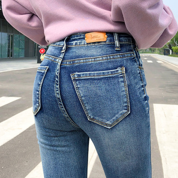 NEW Women Stretch High Waist Classic Retro  Jeans Lady Plus Size 38 40 Skinny Pants Push Up Leggings Mom Jeans Pencil Trousers 1