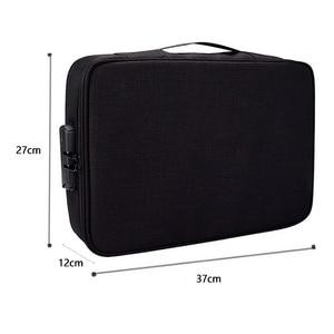 Image 5 - Belge bilet çantası büyük kapasiteli sertifikaları dosyaları organizatör ev seyahat kullanımı için saklamak için önemli ürünler