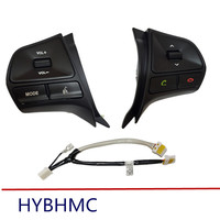 New with Bluetooth!!For KIA k2 new Rio Multifunction Steering wheel button for Audio and Bluetooth control with Light