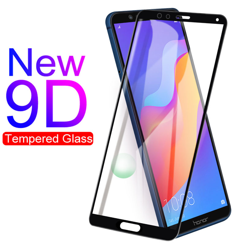 9D Protective Glass For Huawei Honor 7A 7C 8A 8C 8X 9X Tempered Glass For Honor 9 10 Lite View 10 V10 Screen Protector Film Case