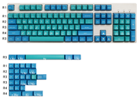 Maxkey keycaps sa duplo tiro abs keycap 134 teclas para teclado mecânico hhkb filco