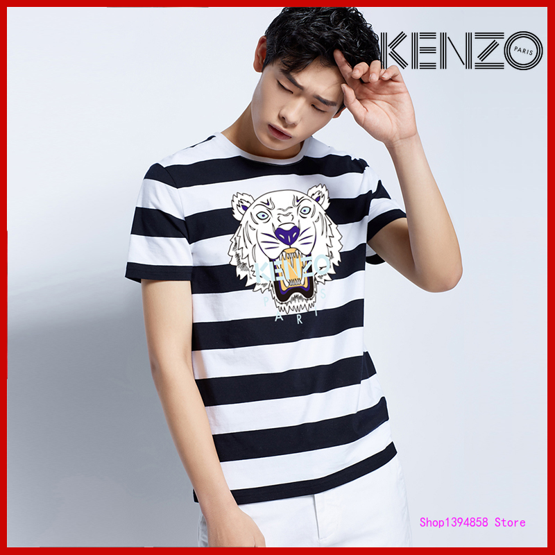KENZO- New Original Brand T Shirt Men Tops Summer Short Sleeve Fashion T-shirt 100% Cotton Mans Tshirt 2KZ26