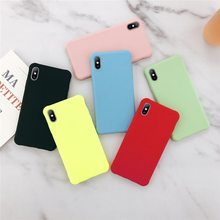 Ottwn Fashion Plain Colour Pattern Phone Cases For iphone 8 7 6 6S X XR XS Max Chic Soft Silicone Back Cover Shells