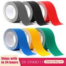 7 kolory guma Non-z taśmą antypoślizgową 5m długości 5cm szerokości czarny biały szary przezroczystej podłodze schodek antypoślizgowe ścierne paska bezpieczeństwa