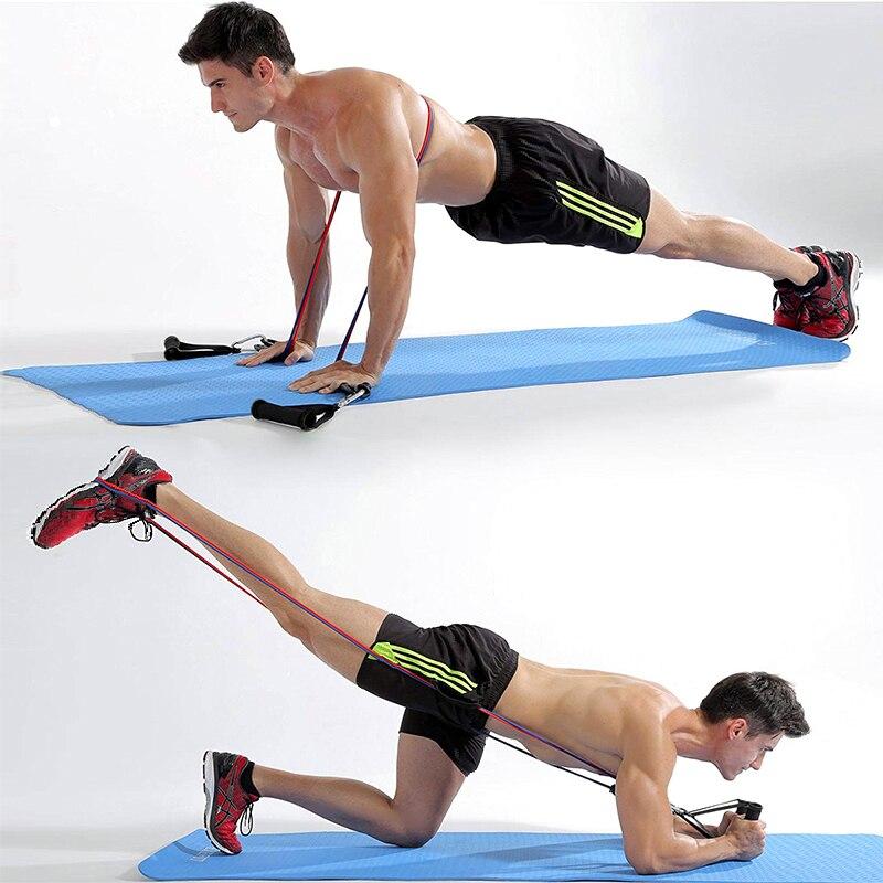 Эластичная резиновая лента для фитнеса и спортзала, 11 шт.-4