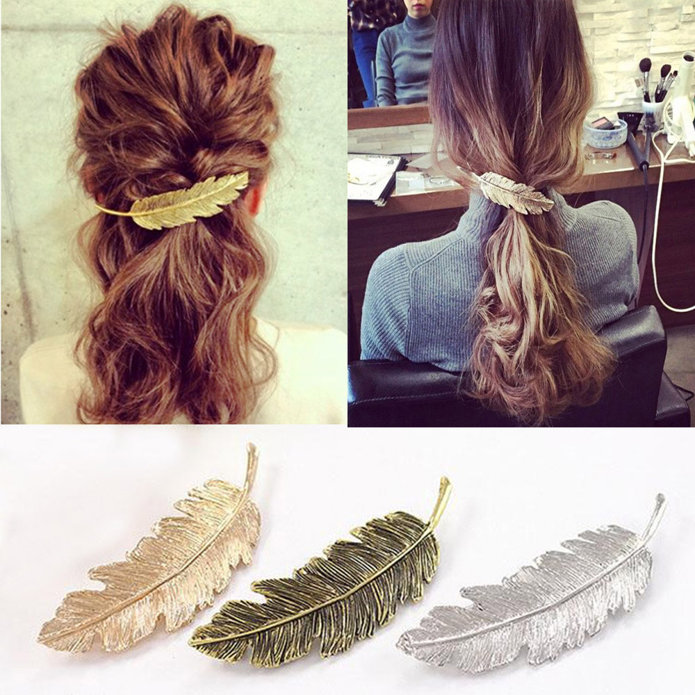 2Pcs Women Elegant Rhinestone Crystal Hairpin Hair Pin Clip Barrette Acce ffvv
