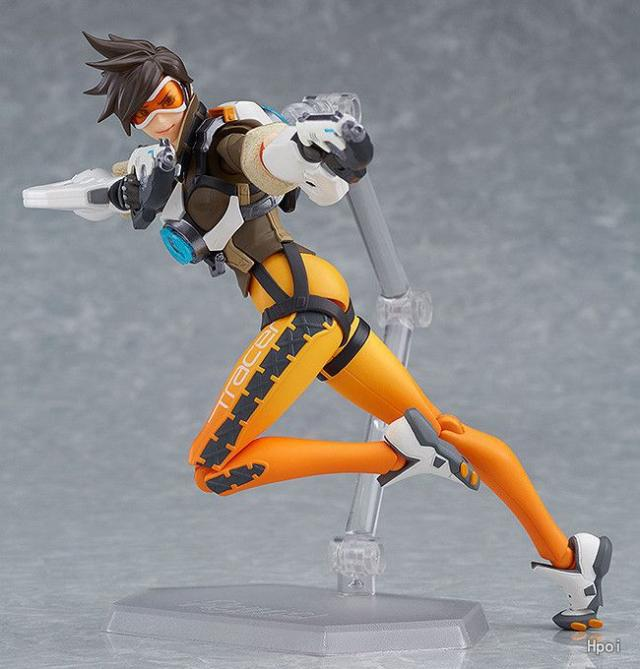 OW 352  Figma Game Character Tracer Action Figure Joint Movable Toy Figma Tracer Doll Xmas gift Figurines B19