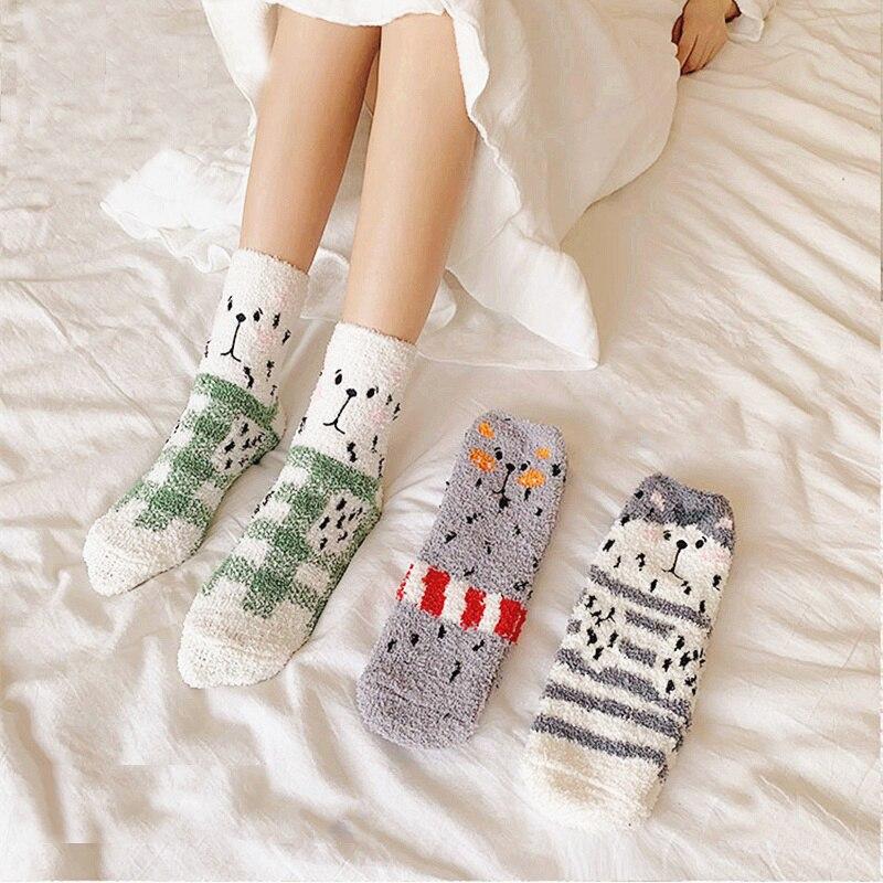 Dreamlikelin Women's Socks Set Funny Winter Warm Socks Cute Cartoon Thermal Socks for Women Sleeping