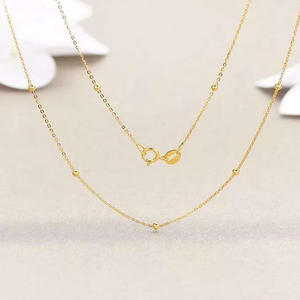 Chain Jewelry Gold-Necklace Fine-Pendant Yellow Gold Pure-Au750 Women Real-18k NYMPH