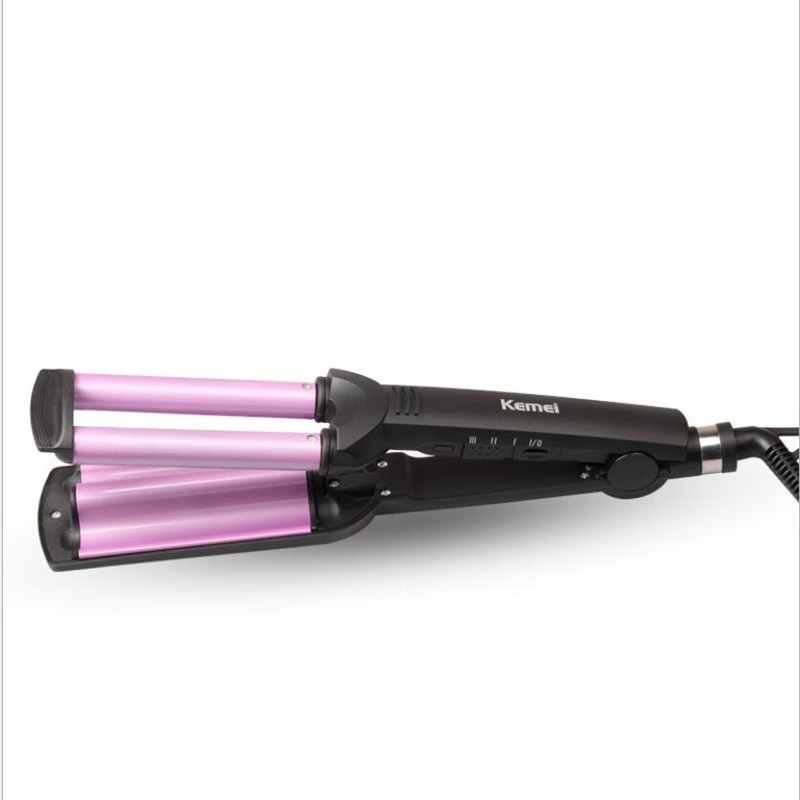 Купить с кэшбэком Electric Magic Simply Hair Curling Iron Ionic Care Hairstyling Roller Curler Beach Wave Wand Ceramic Barrel Fast Heat Salon Curl