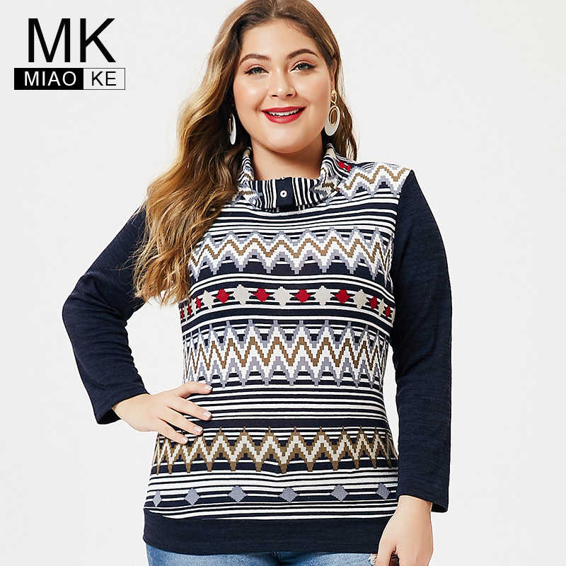 MK 2019 Autumn Plus Size Ladies Long Sleeve T-shirt Fashion Womens Femal Elegant Casual Extensible Tops And Blouses