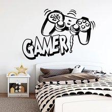 Резные Виниловые Настенные Стикеры для геймеров игровая комната