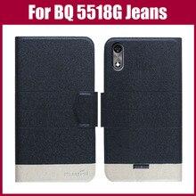 Лидер продаж! Джинсовый чехол BQ 5518G, 5 цветов, ультратонкий цветной кожаный защитный чехол для телефона BQ 5518G, джинсовые поводки