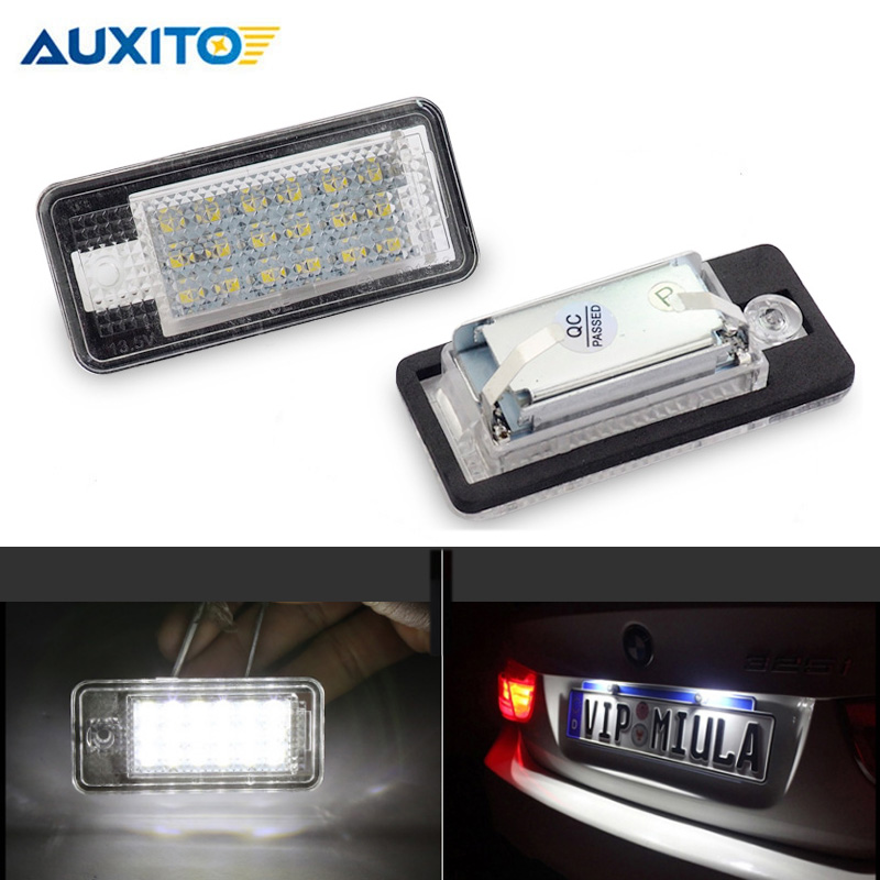2X LED License Number Plate Light Bulb Fit For A3 A4 B6 B7 A6 C6 S6 A8 Q7 6000K