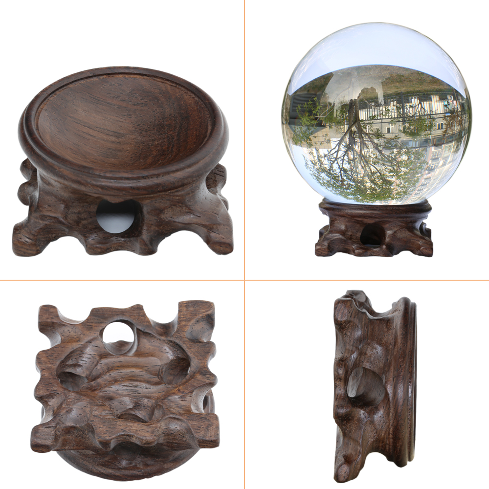 Wood Display Stand For Large Crystal Ball 30/40mm 50mm 60mm 80mm 100mm Big Glass Globe Base Lensball Support Magic Sphere Holder