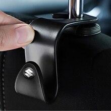 A Pair Portable Car Seat Back Hooks Hanging Bag Rack Accessories For Suzuki Swift Samurai Vitara SX4 Jimny Alto Kaiser Ingnis