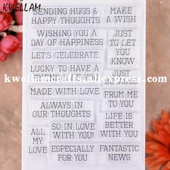 Word sending hugs는 스크랩북 사진 카드 고무 스탬프 투명 스탬프 투명 스탬프 9112610 때문에 내 모든 사랑을 기원합니다.
