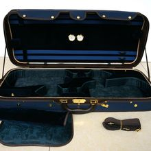 Деревянный двойной чехол для скрипки 2 Скрипки синего цвета для 4/4 полный размер скрипки