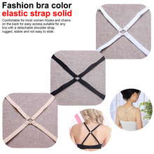 1cm Neon candy solid color elastic shoulder bra strap back cross slip-resistant underwear with /Fashion