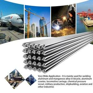 10PCS 2mm*500mm Easy Melt Aluminum Welding Rods Low Temperature Great Weldability Cored Al-Mg Soldering Rod Metal Welding Wire