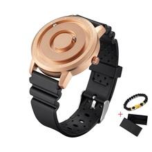 EUTOUR nowy niebieski zegarek magnetyczny mężczyźni dorywczo silikonowy moda kwarcowy złoty magnes piłka wodoodporny zegarek sportowy Relogio Masculino prezent tanie tanio 24cm Moda casual QUARTZ 3Bar Klamra CN (pochodzenie) STAINLESS STEEL 10mm Hardlex Kwarcowe Zegarki Na Rękę Papier 40mm
