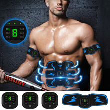 Vibration ABS Muscle Stimulator Abdominal EMS Trainer Electrostimulation Home Gym Equipment Fitness Massager USB Rechargeable