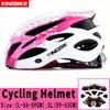 Kingbike capacete de bicicleta ultra leve, capacete de ciclismo mtb cpsc com luz traseira e luz de carbono, cor para ciclismo 25