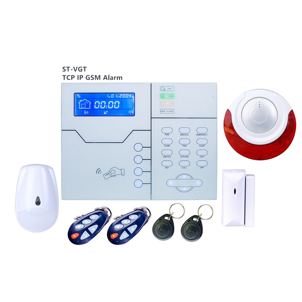 English Italian French Voice option Wireless RJ45 TCP IP Alarm GSM Smart Home Security Alarm System control by webIE and App