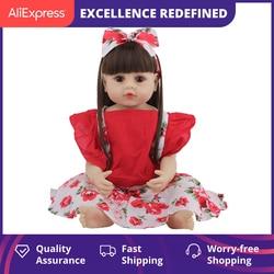 55CM Bebe poupée Reborn bébé poupées pour enfants jouets enfant en bas âge haute qualité Silicone corps complet fille poupée avec des vêtements d'été
