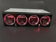 Araç LED ekran müzik spektrum analizörü araba sıcaklık gerilim seviyesi ölçer