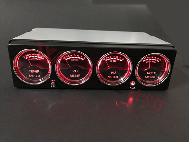 Car LED Display Music Spectrum Analyzer Car Temperature Voltage Level Meter