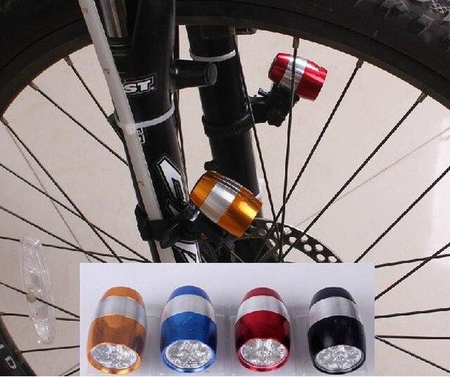 Luzes da bicicleta à prova dwaterproof água ultra brilhante 6 led bicicleta frente cabeça luz liga de alumínio mini segurança ciclismo lanterna luzes 2